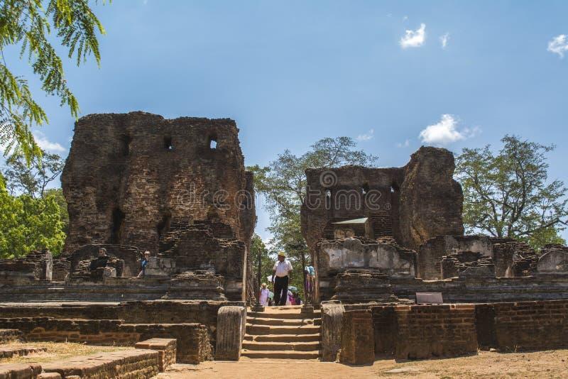 Città antica Royal Palace Sri Lanka di Polonnaruwa fotografia stock