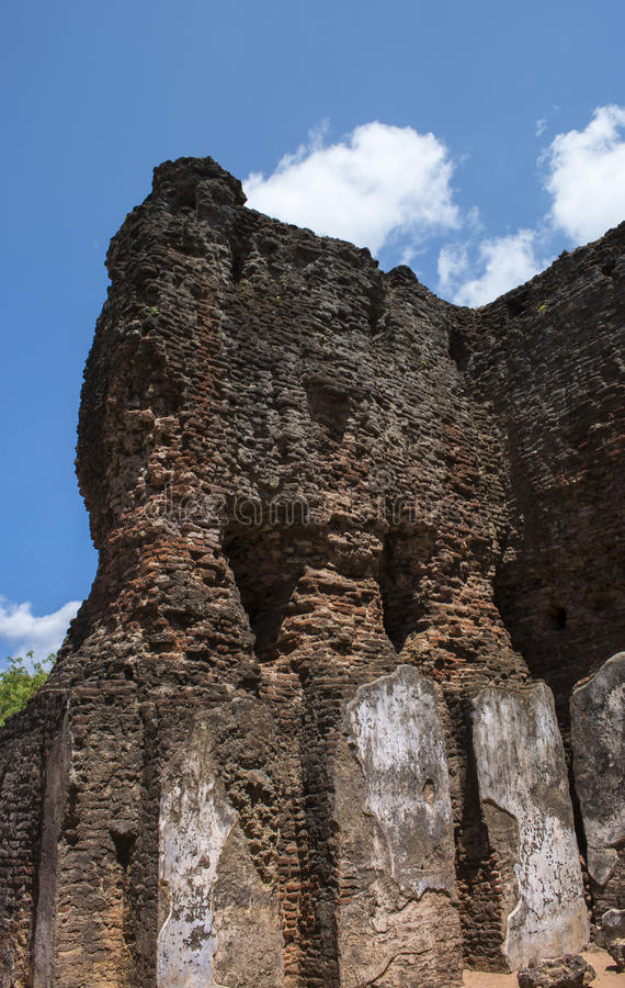 Città antica Royal Palace Sri Lanka di Polonnaruwa immagine stock
