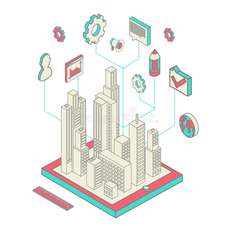 Città app royalty illustrazione gratis