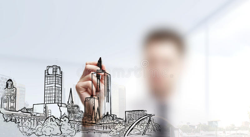 Città astratta fotografie stock libere da diritti