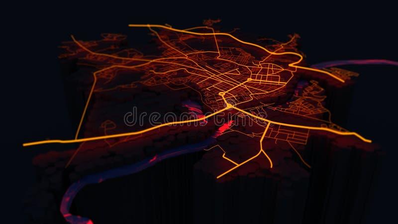 Città astratta royalty illustrazione gratis