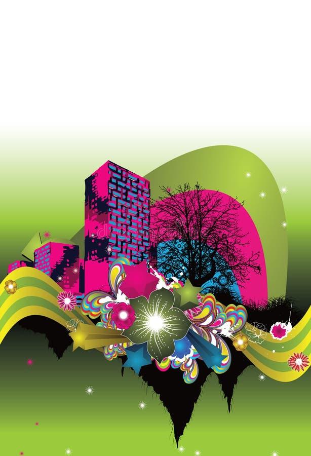 Download Città astratta illustrazione vettoriale. Illustrazione di eleganza - 7312933