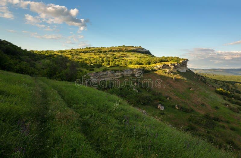 Città Bakla della caverna in Bakhchysarai Raion, Crimea fotografie stock
