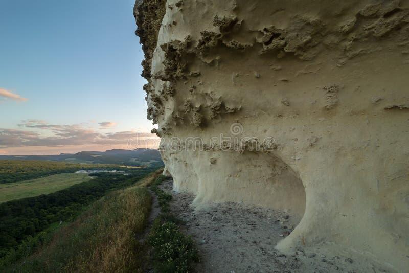 Città Bakla della caverna in Bakhchysarai Raion, Crimea fotografia stock libera da diritti