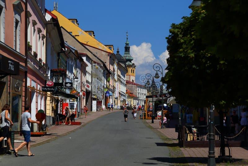 Città Banska Bystrica slovakia Vecchia città, il quadrato principale immagine stock