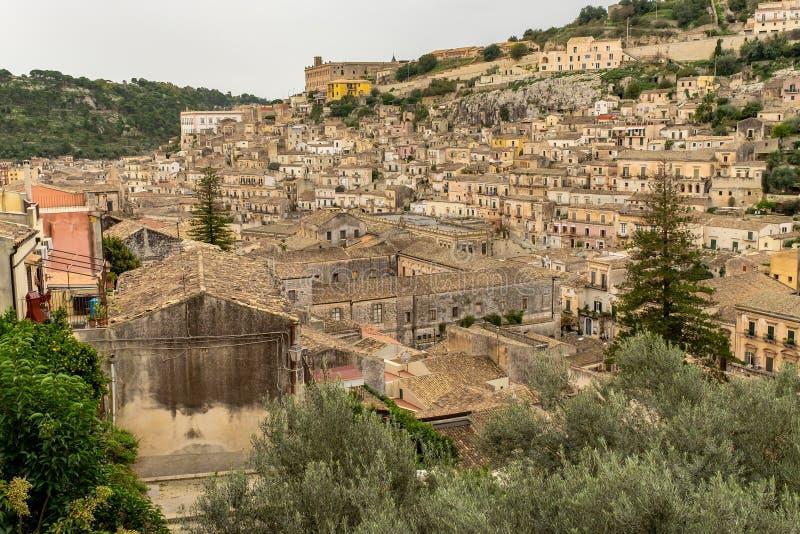 Città barrocco delle briciole in Sicilia, Italia immagini stock libere da diritti