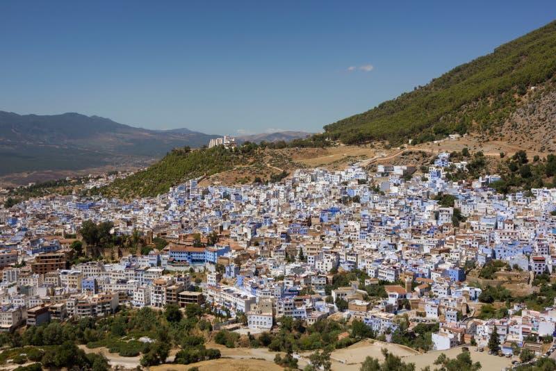 Città blu di Chefchaouen fotografia stock