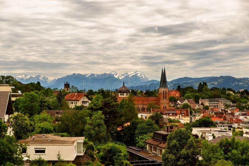 Città Bregenz in Austria immagine stock libera da diritti