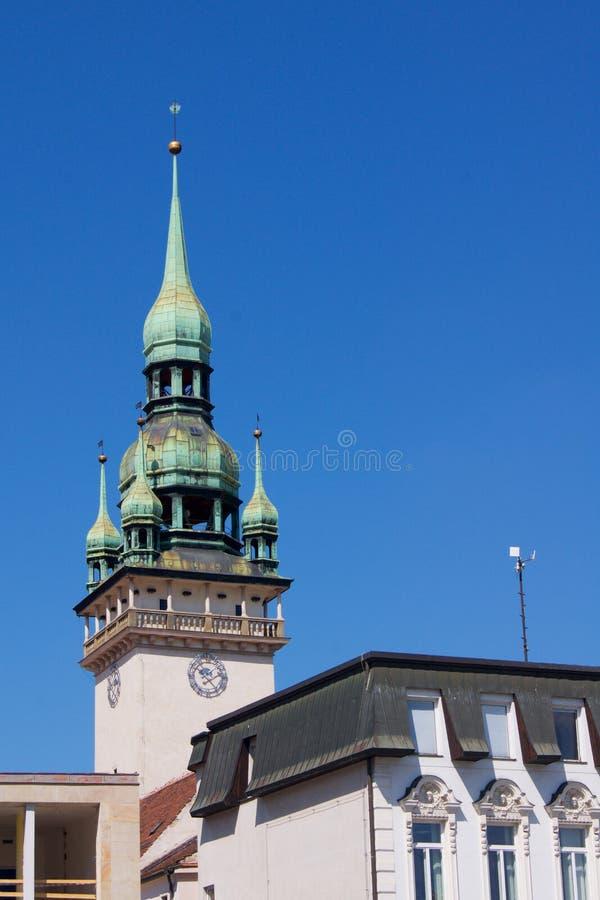 Città Brno della torre in repubblica Ceca immagini stock libere da diritti