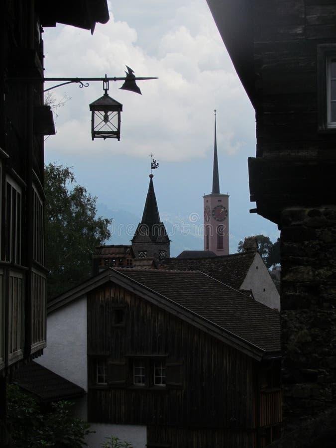 Città Buchs fotografie stock libere da diritti