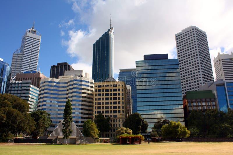 Città Buildiigs Perth immagini stock libere da diritti