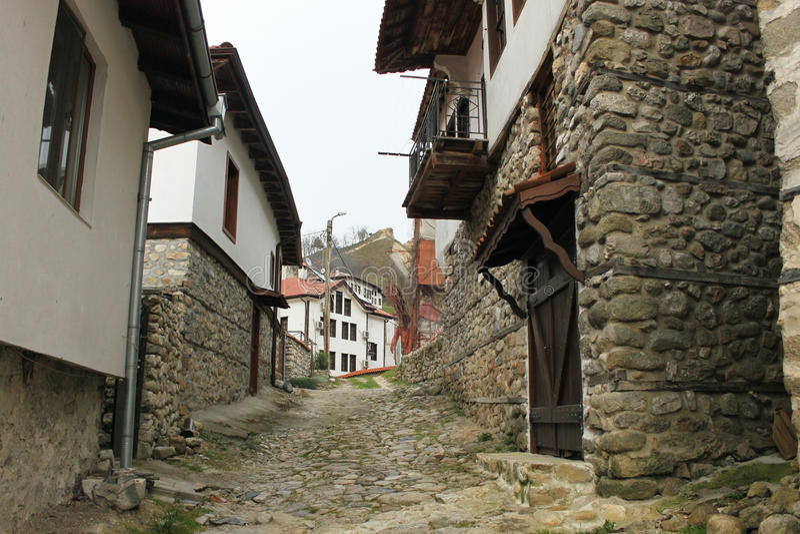 Download Città bulgara di Melnik fotografia stock. Immagine di casa - 55361232