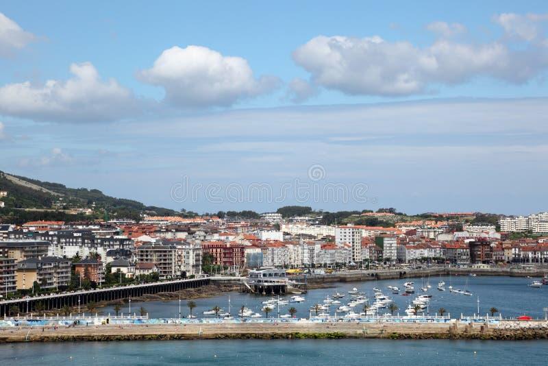 Città Castro Urdiales in Cantabria, Spagna fotografia stock