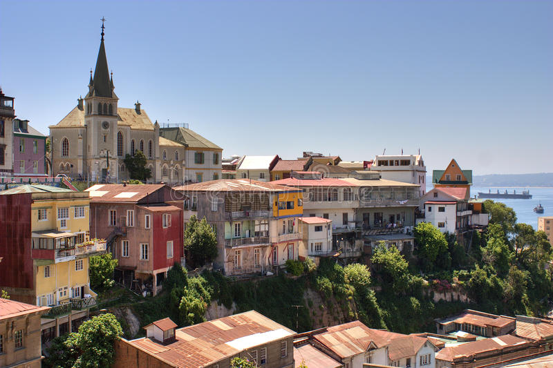 Città Cile di Valparaiso immagine stock