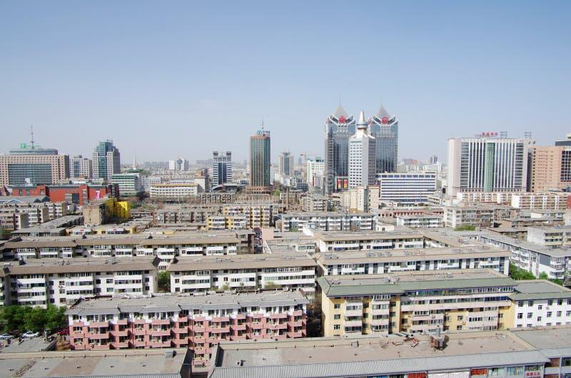 Città cinese moderna di Xining fotografia stock libera da diritti