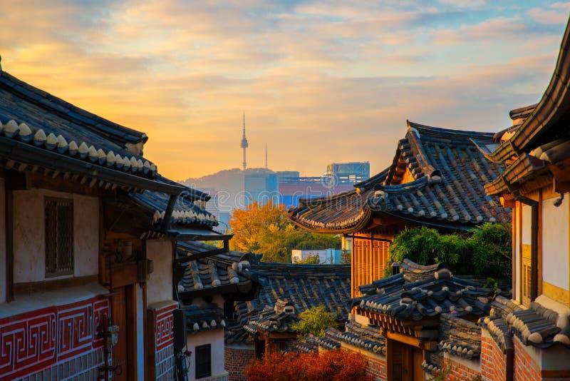 Città coreana antica immagine stock