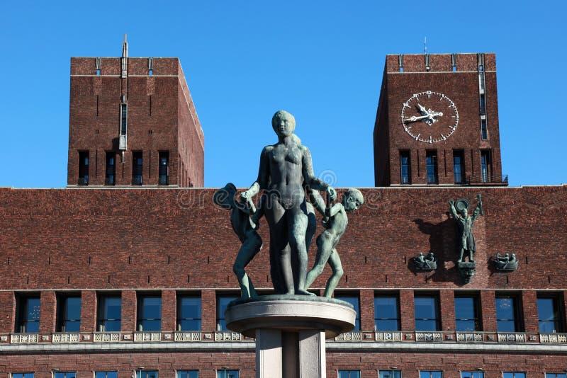 Città corridoio di Oslo immagini stock libere da diritti