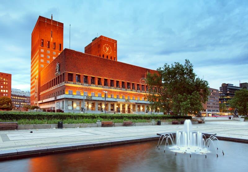 Città corridoio, Norvegia di Oslo fotografia stock