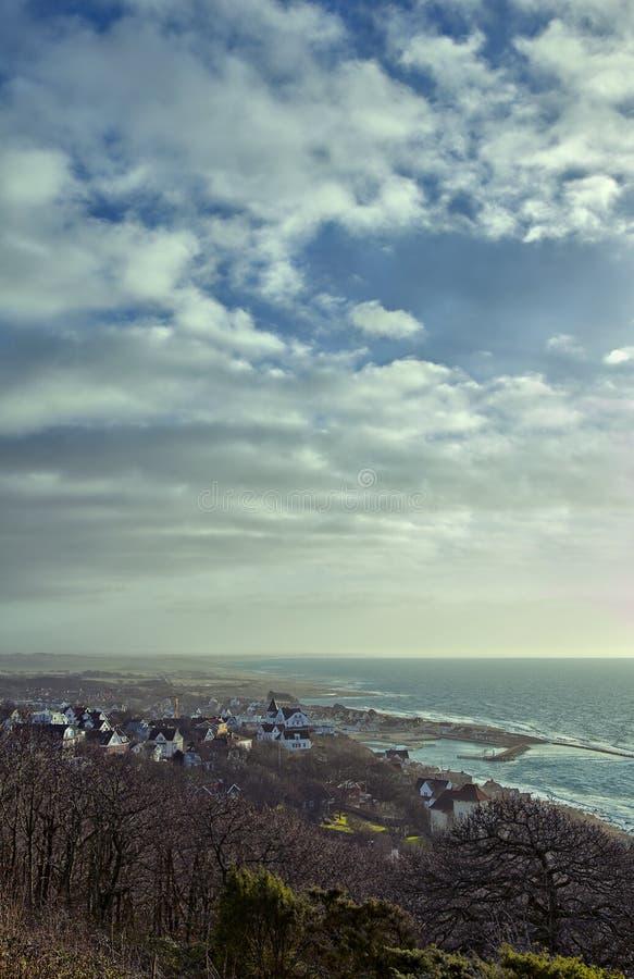 Città costiera fotografie stock