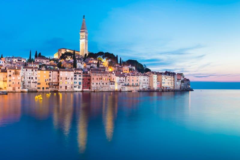 Città costiera di Rovigno, Istria, Croazia. immagini stock libere da diritti