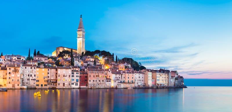 Città costiera di Rovigno, Istria, Croazia. immagine stock