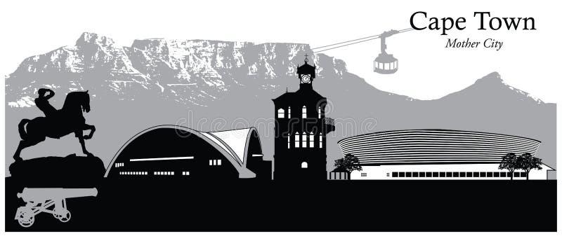 Città del Capo, Sudafrica illustrazione vettoriale