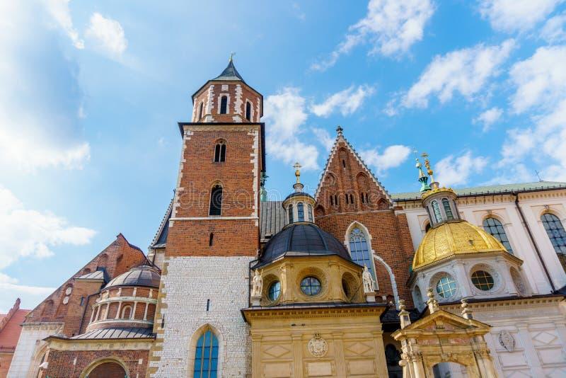 Città del castello di Cracovia Wawel vecchia fotografia stock libera da diritti