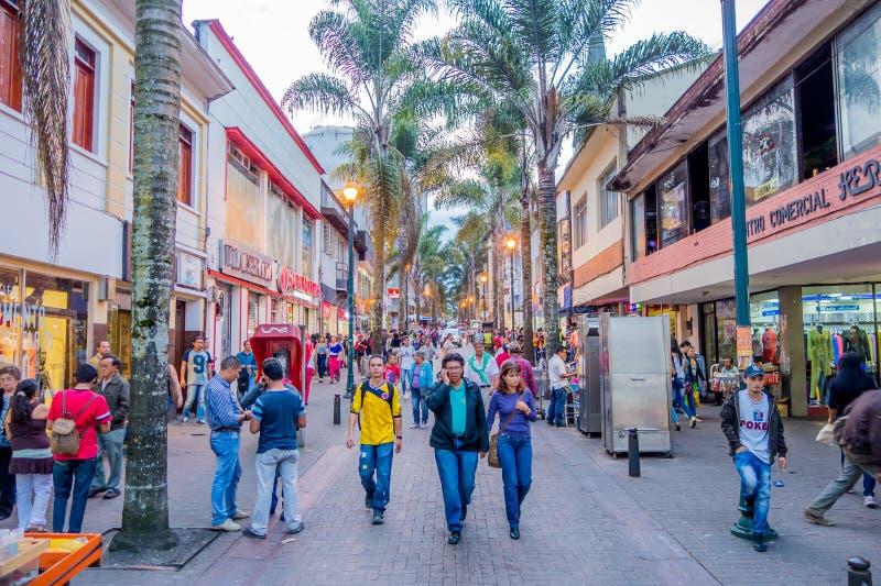 Città del centro di Manizales in Colombia immagini stock