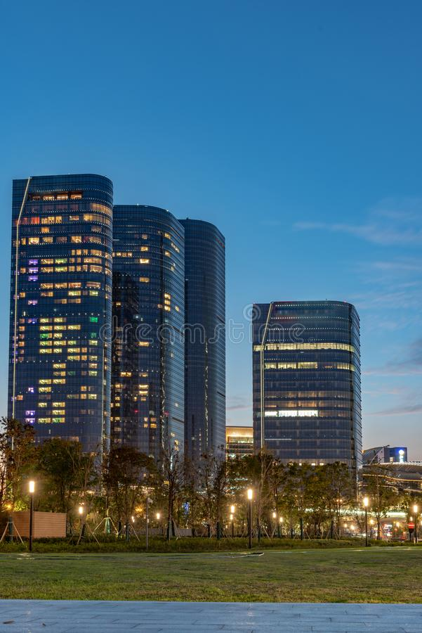 Città del complesso industriale di Suzhou fotografie stock