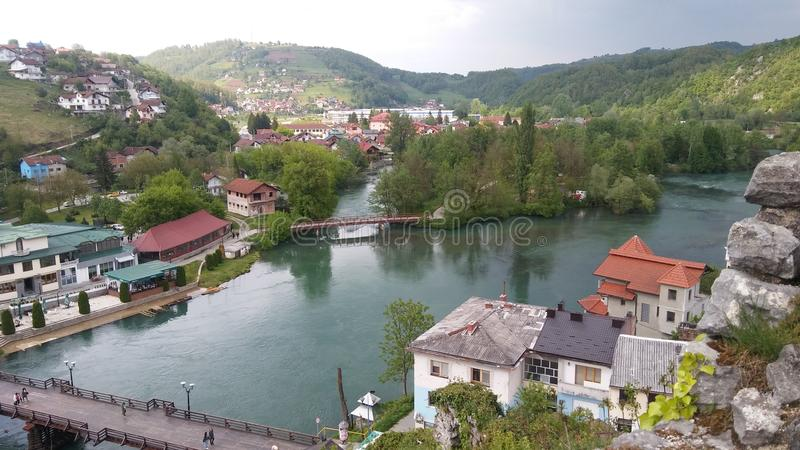 Città del krupa di Bosanska, Bosnia-Erzegovina fotografia stock libera da diritti