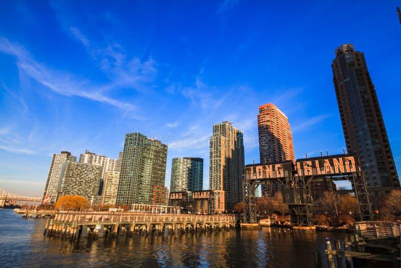 Città del Long Island fotografia stock