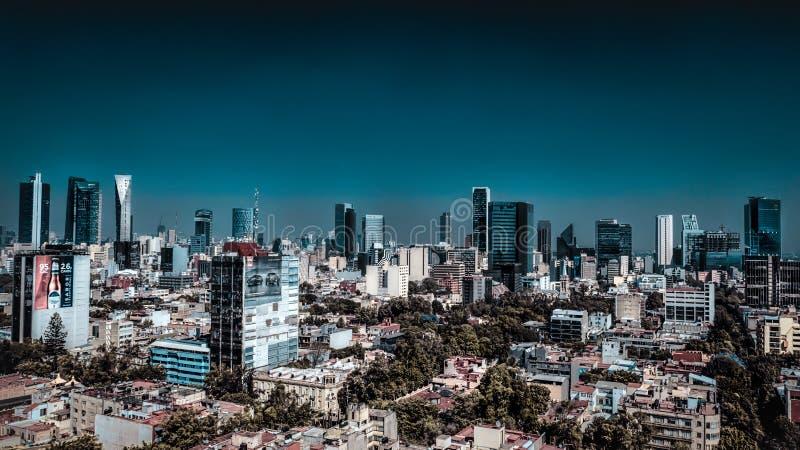 Città del Messico, foto aerea del Messico dei grattacieli di affari fotografie stock libere da diritti