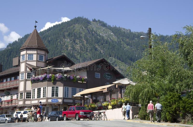 Città del tedesco di Leavenworth fotografia stock