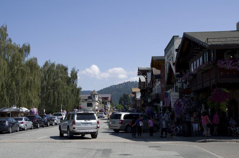 Città del tedesco di Leavenworth immagini stock