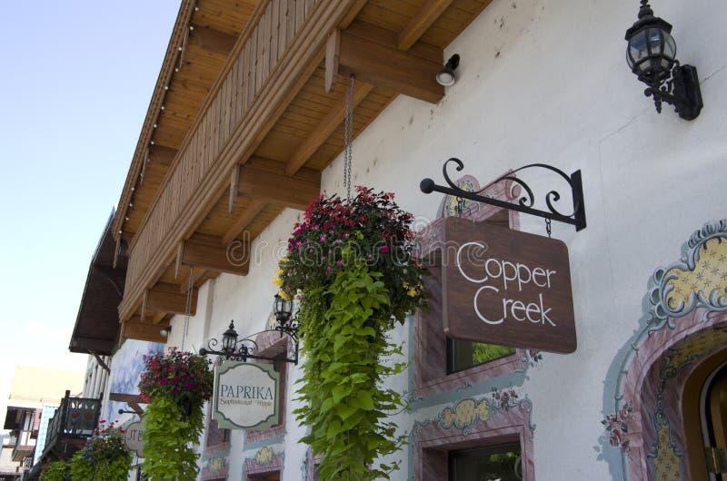 Città del tedesco di Leavenworth immagini stock libere da diritti