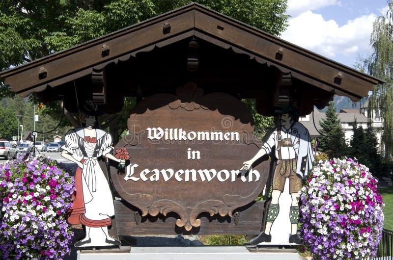Città del tedesco di Leavenworth immagine stock