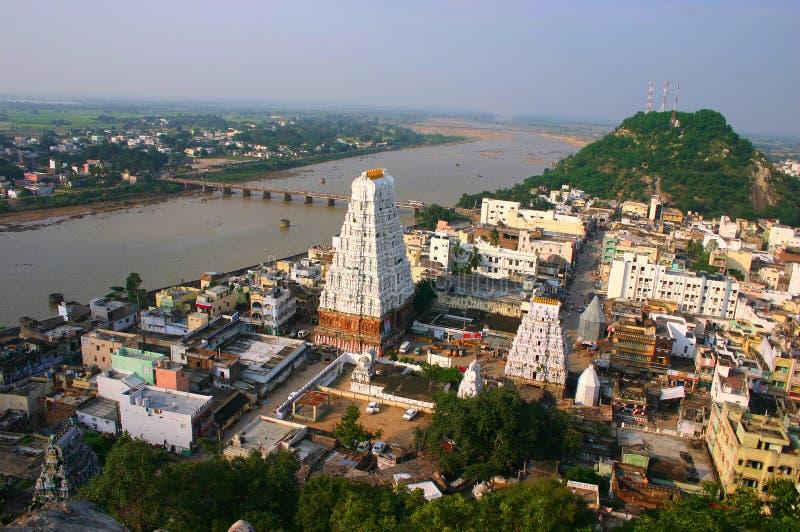 Città del tempiale in India del sud immagini stock