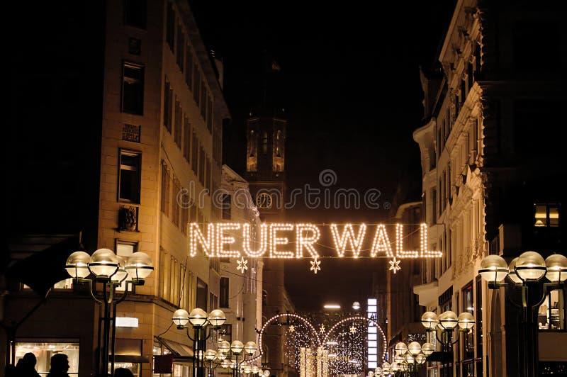 Città del tempo di Natale di Amburgo fotografia stock libera da diritti