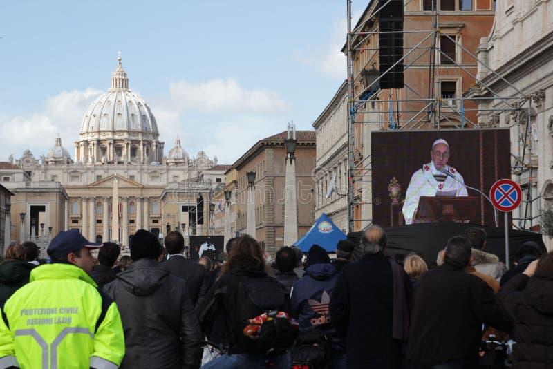 Installazione di papa immagini stock