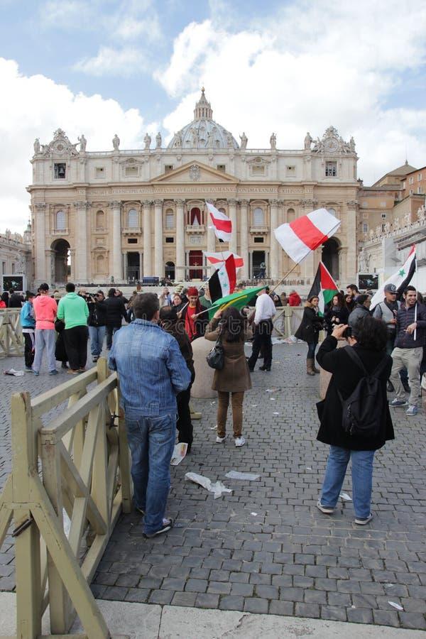 Installazione di papa fotografia stock libera da diritti