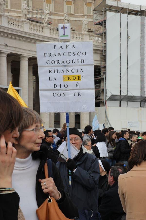 Installazione di papa immagini stock libere da diritti