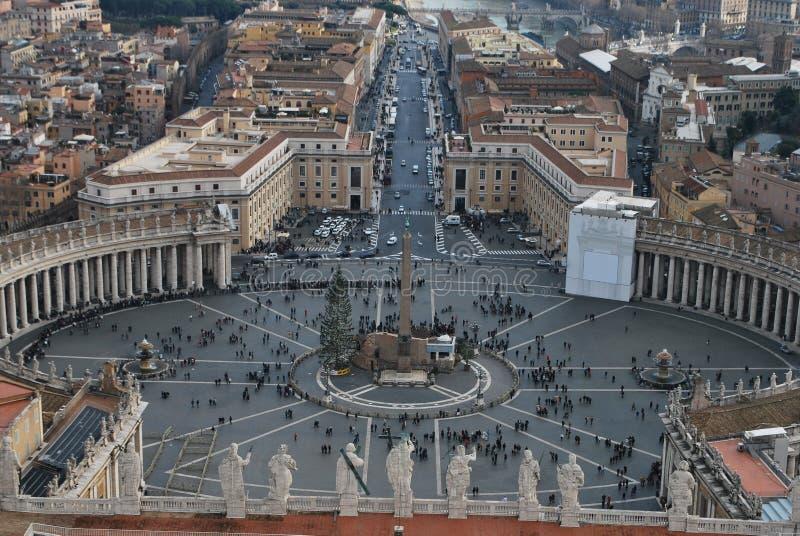 Città del Vaticano, quadrato del ` s di St Peter immagine stock libera da diritti