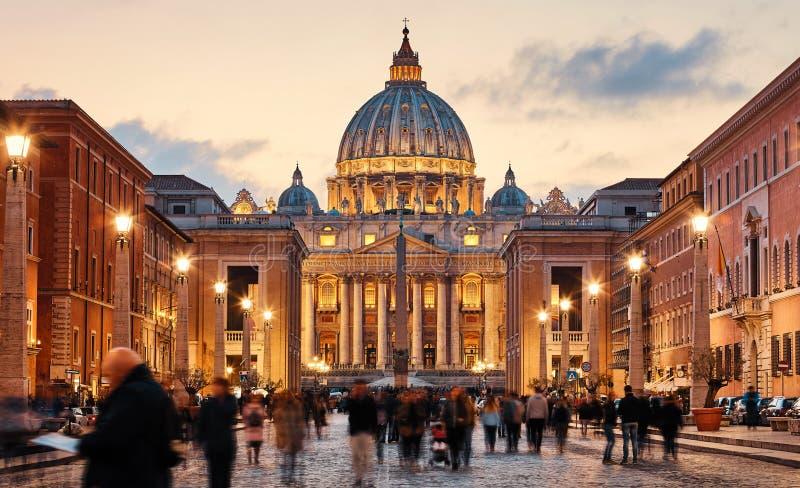 Città del Vaticano Santa Sede Cupola di San Pietro Basil fotografia stock libera da diritti