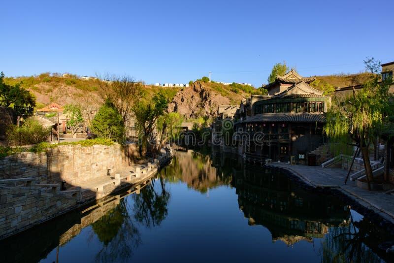 Città dell'acqua di Gubei, la contea di Miyun, Pechino, Cina immagini stock