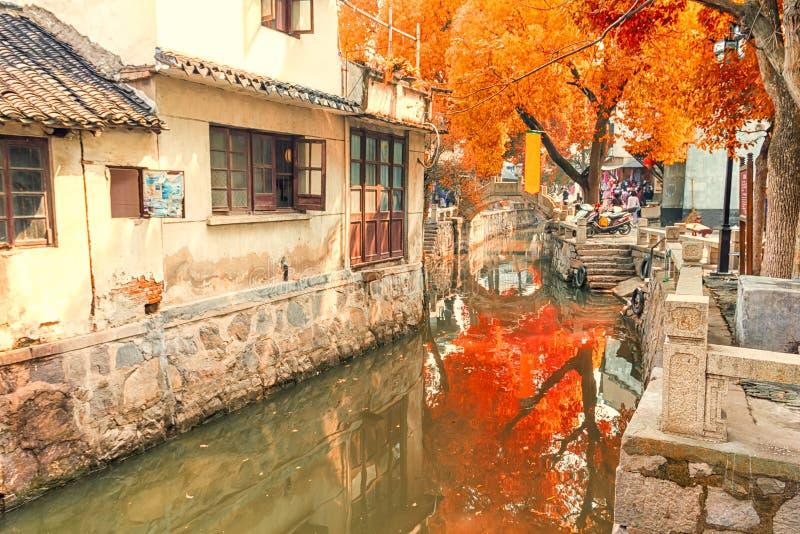 Città dell'acqua di Luzhi, Cina immagini stock