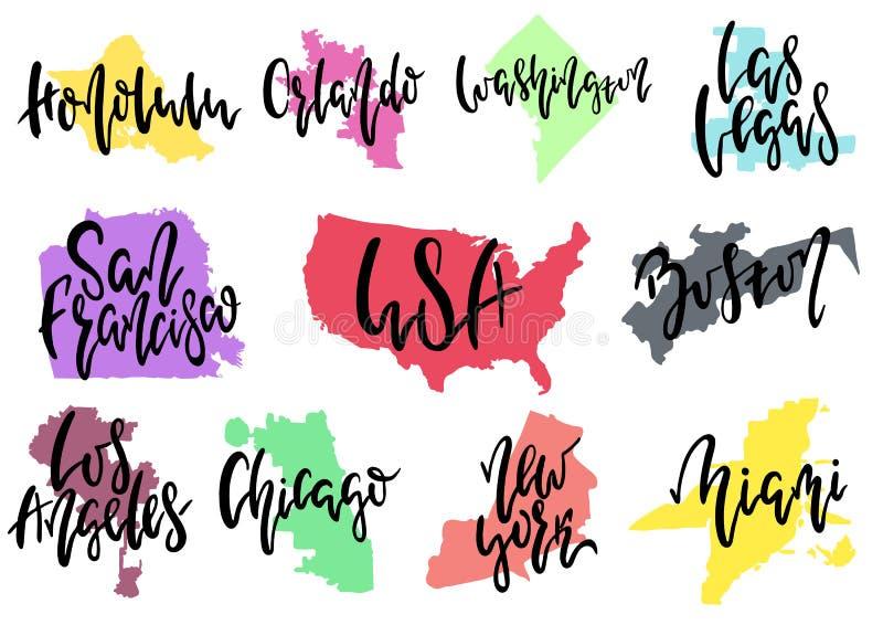 Città dell'americano di vettore illustrazione vettoriale