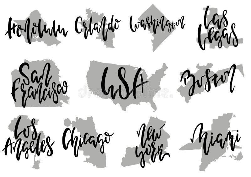 Città dell'americano di vettore illustrazione di stock
