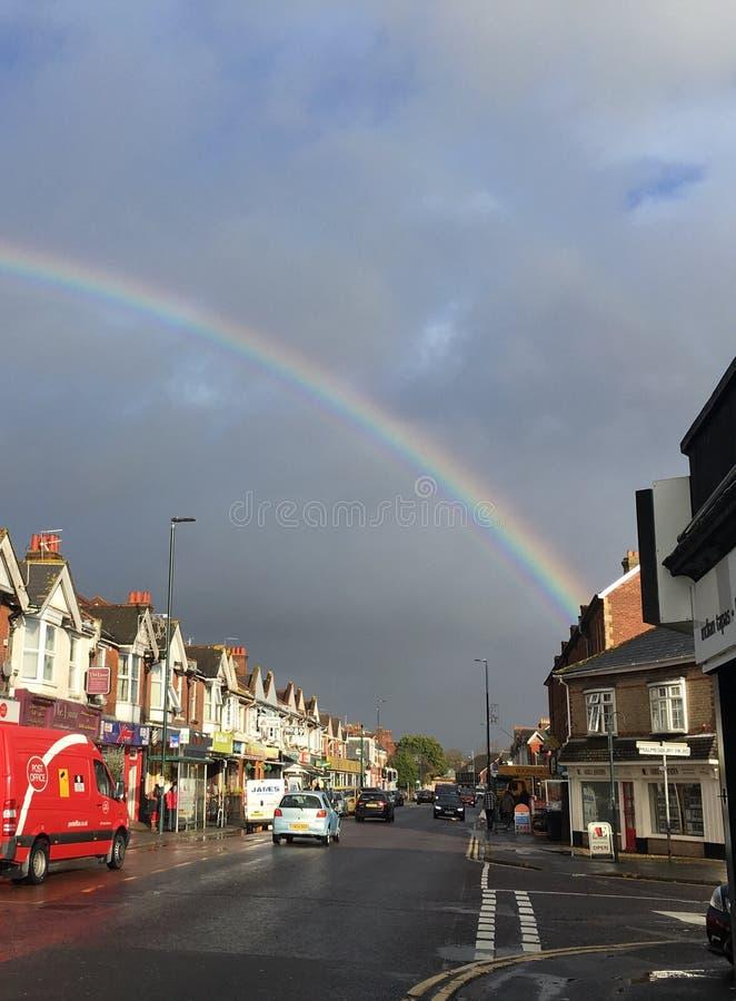 Città dell'arcobaleno fotografie stock libere da diritti
