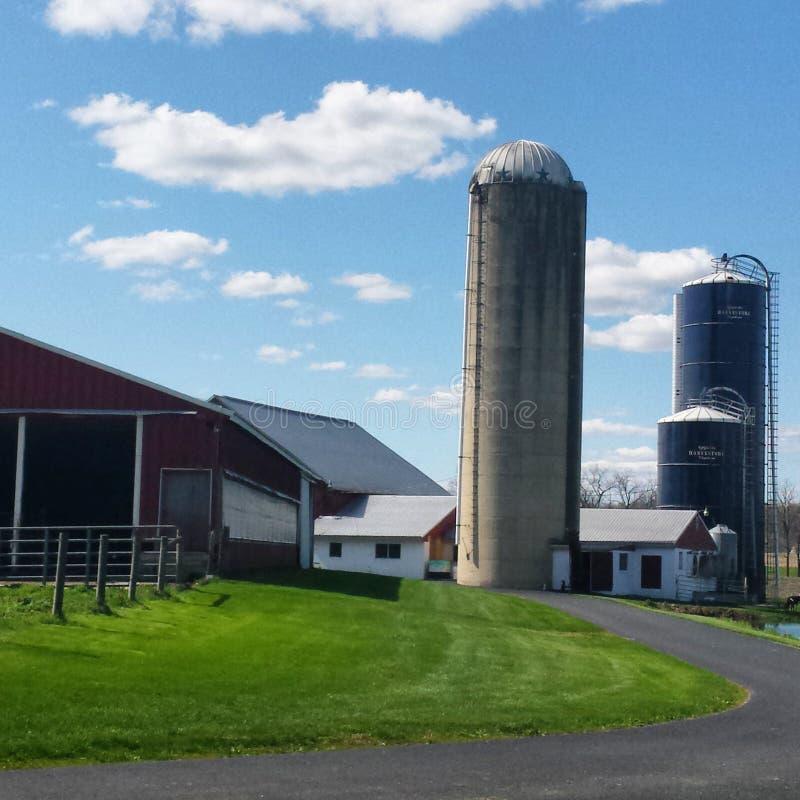 Città dell'azienda agricola fotografie stock