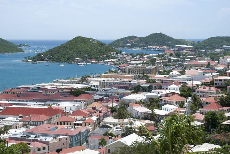 Città dell'isola vergine fotografia stock libera da diritti